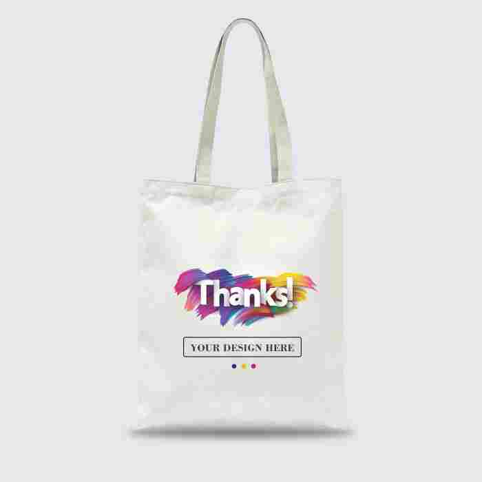 Custom Tote Bag Premium Full Color 1 Sisi (30 x 40 cm)
