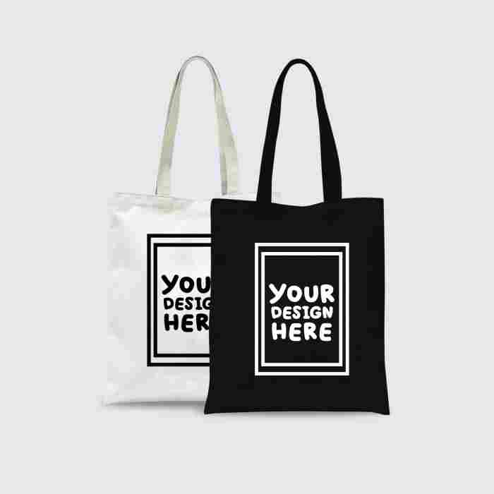 Custom Tote Bag Premium 1 Warna 2 Sisi (30 x 40 cm)