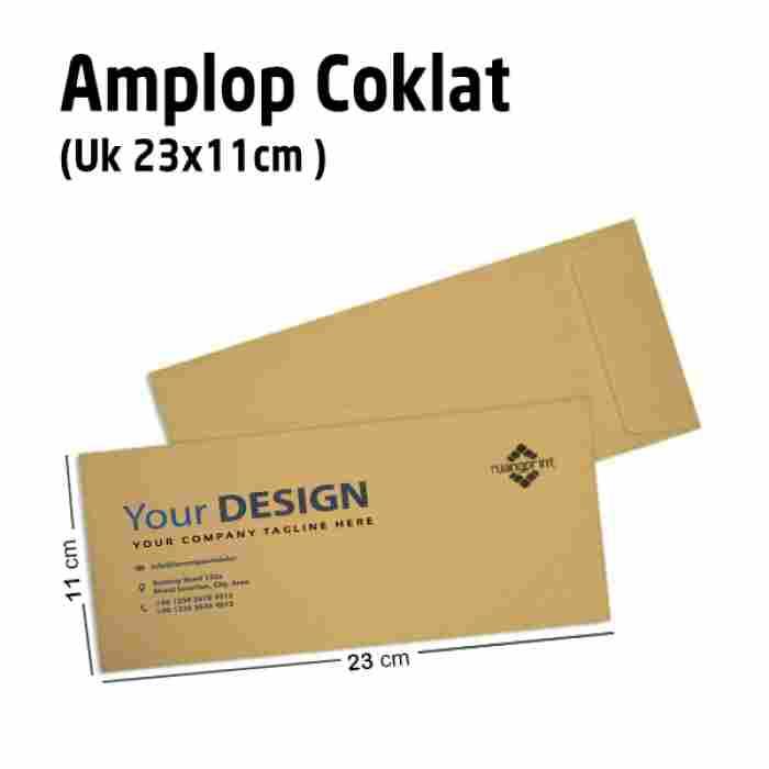 Custom Amplop Coklat (23 x 11 cm)