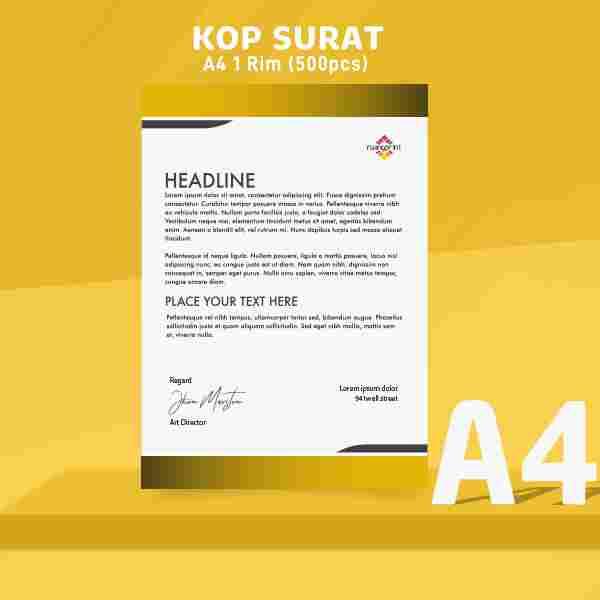Paket Kop Surat HVS A4 1 RIM (500 pcs)