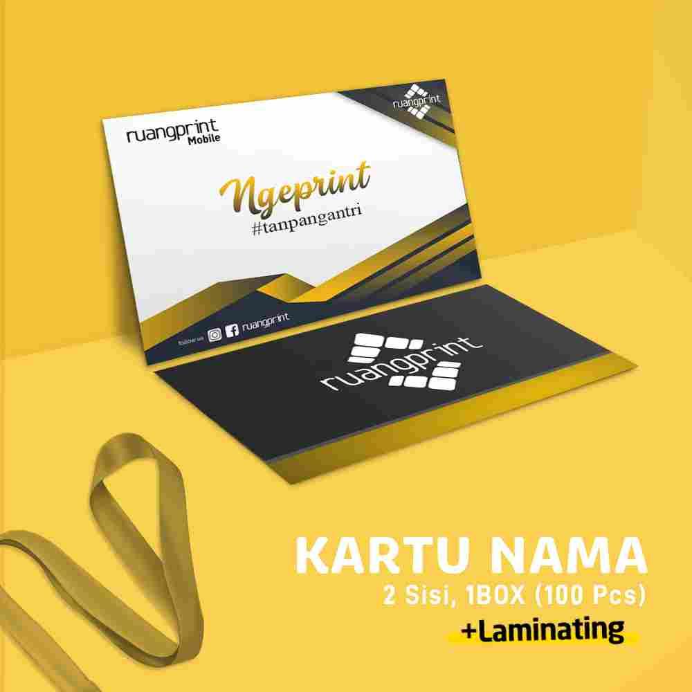 Kartu Nama 1 Box / 2 Sisi (Art Carton 260gr) Laminating