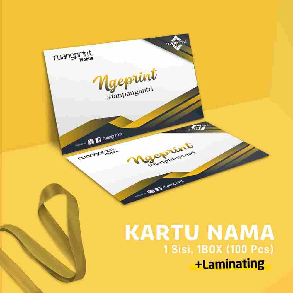 Kartu Nama 1 Box / 1 Sisi (Art Carton 260gr) Laminating