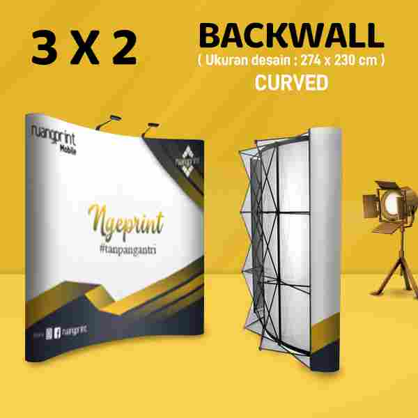 Backwall Curved 3 x 2