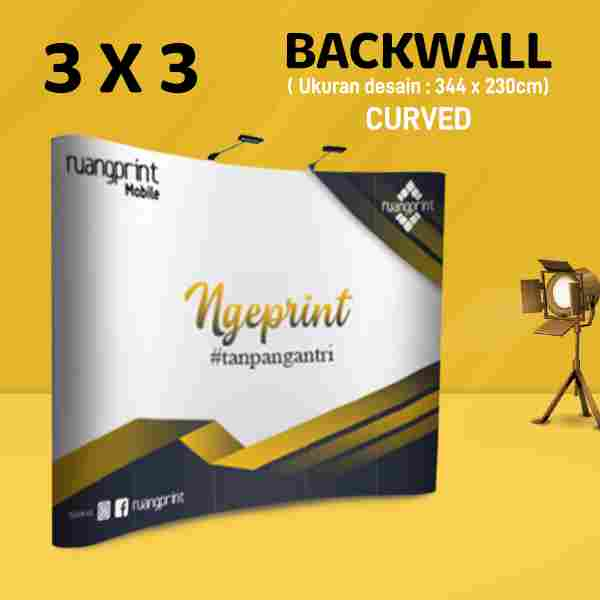 Backwall Curved 3x3