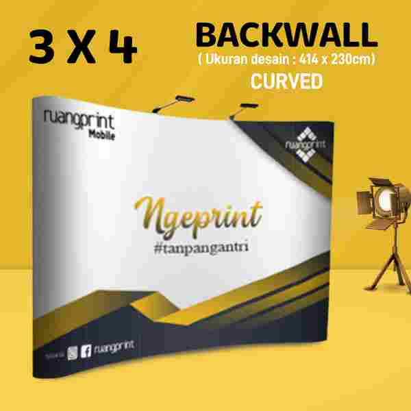 Backwall Curved 3x4