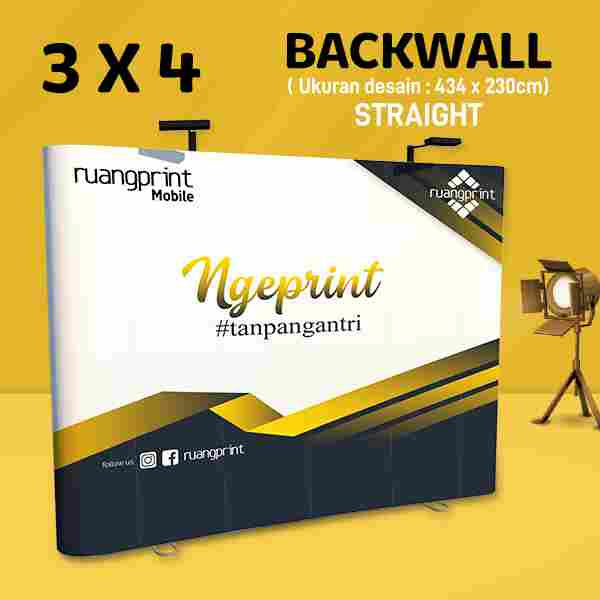 Backwall Straight 3x4