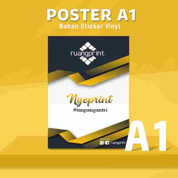 POSTER A1 Sticker Vinyl