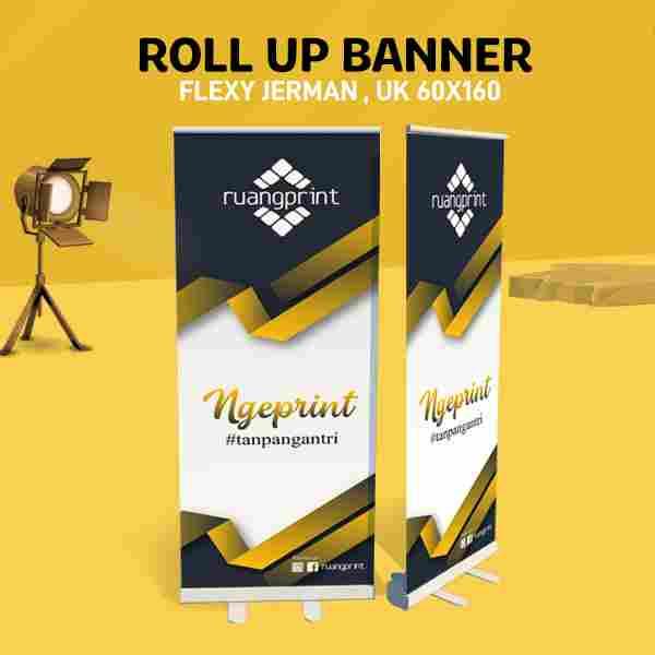 Roll Up Banner 60 x 160 cm (Flexy Jerman)