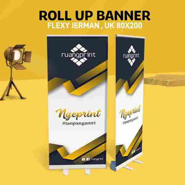 Roll Up Banner 80 x 200 cm (Flexy Jerman)