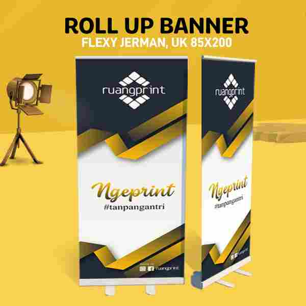 Roll Up Banner 85 x 200 cm (Flexy Jerman)