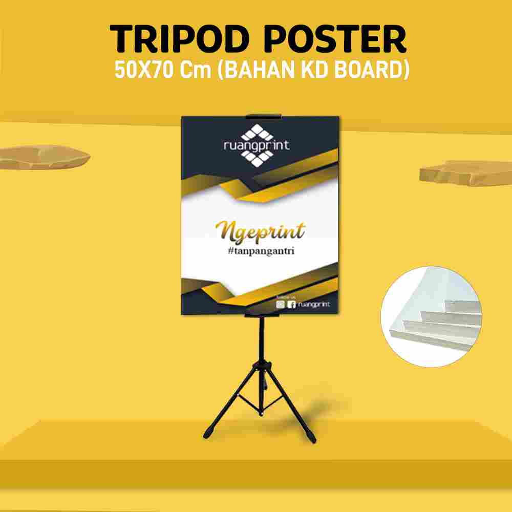 Tripod + Poster 50 x 70 cm (KD board)