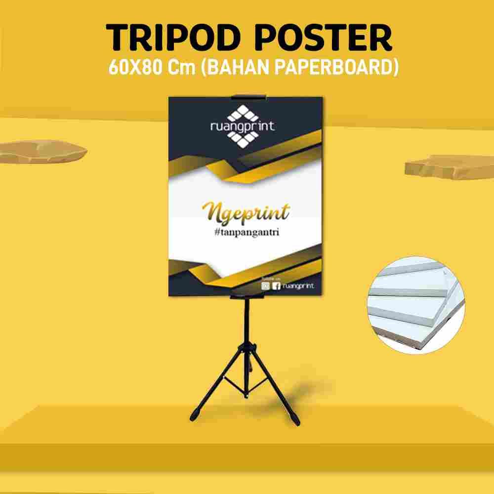 Tripod + Poster 60 x 80 cm (Paperboard)