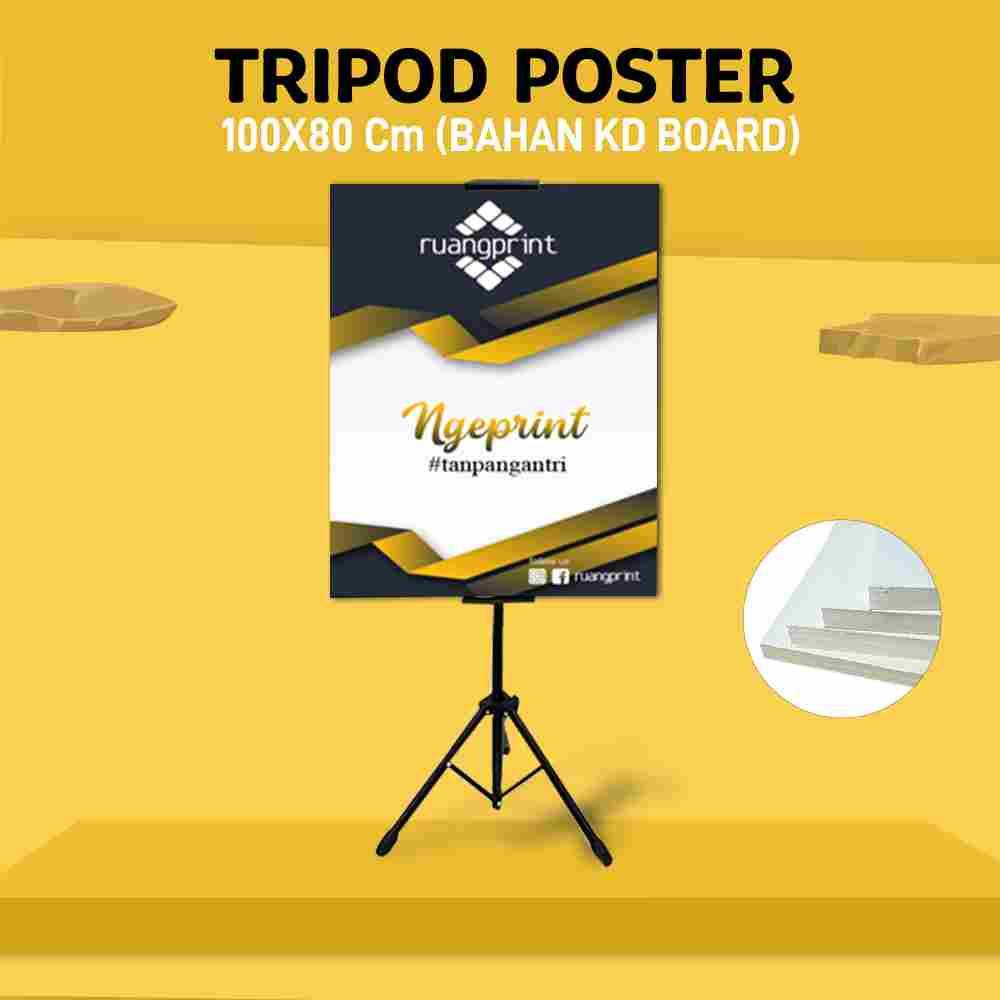 Tripod + Poster 80 x 100 cm (KD Board)
