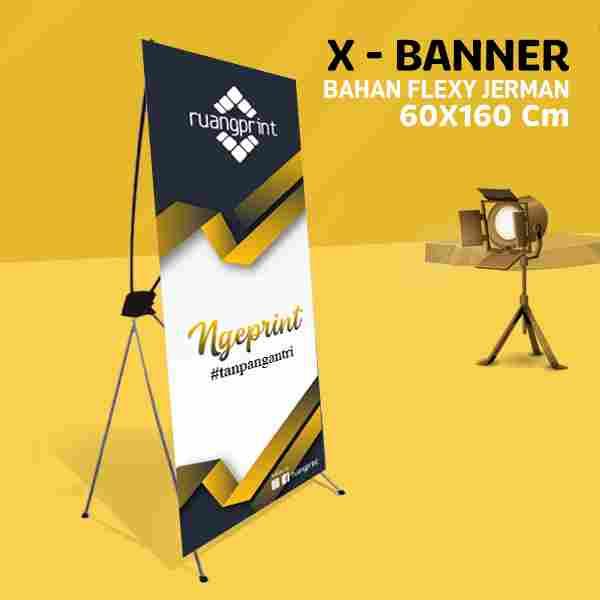 X Banner 60 x 160 cm (Flexy Jerman)