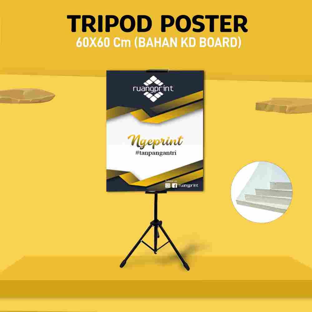Tripod + Poster 60 x 60 cm (KD Board)