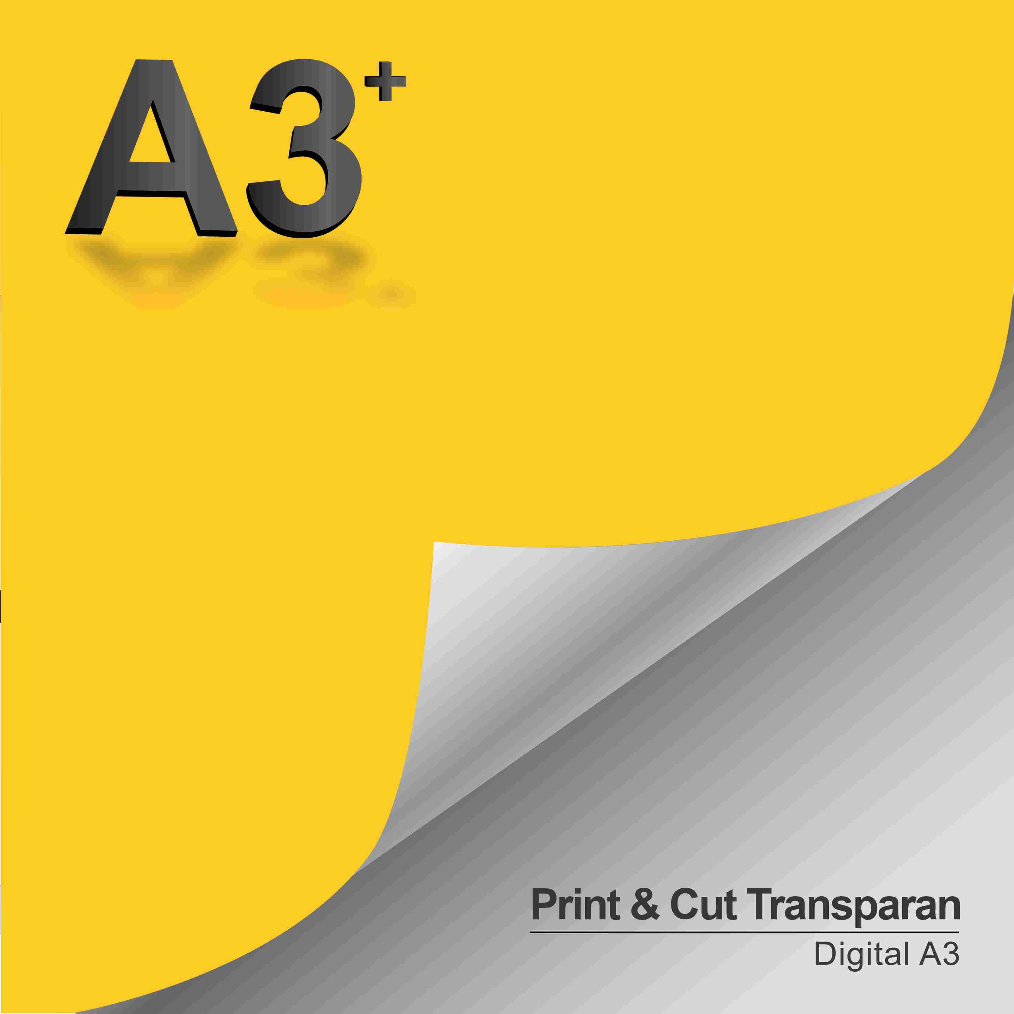 Print & Cut Sticker Transparant