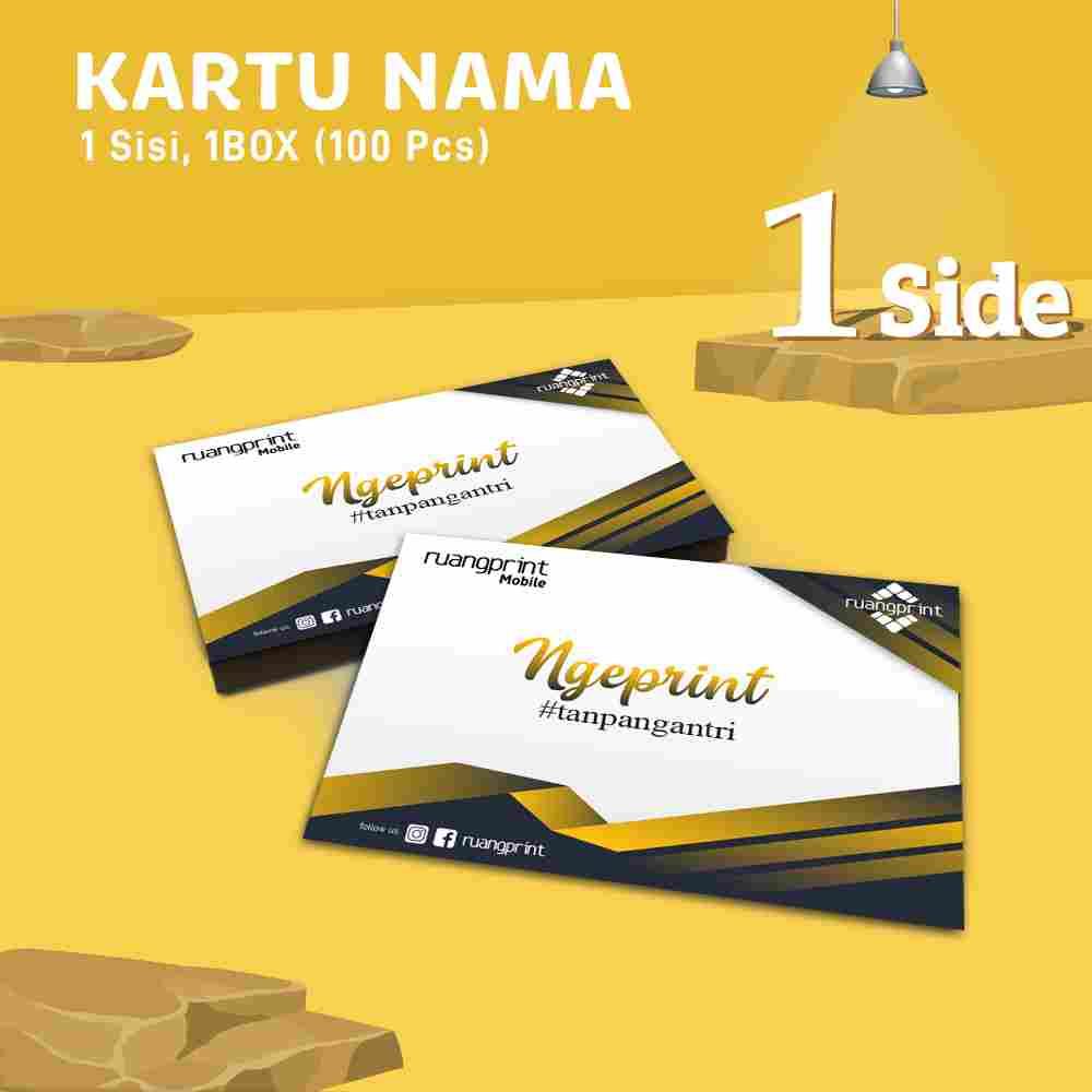 Kartu Nama ( Bahan Linen ) 1 side