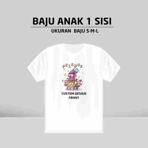Custom Baju Anak 1 Side