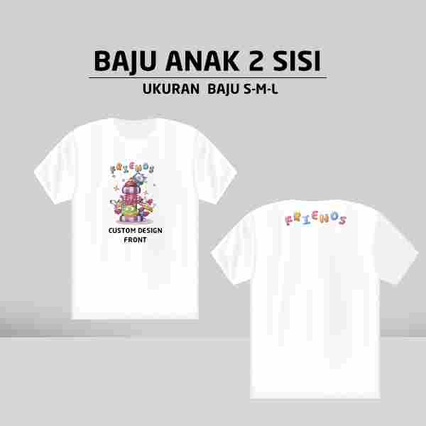 Custom Baju Anak 2 side