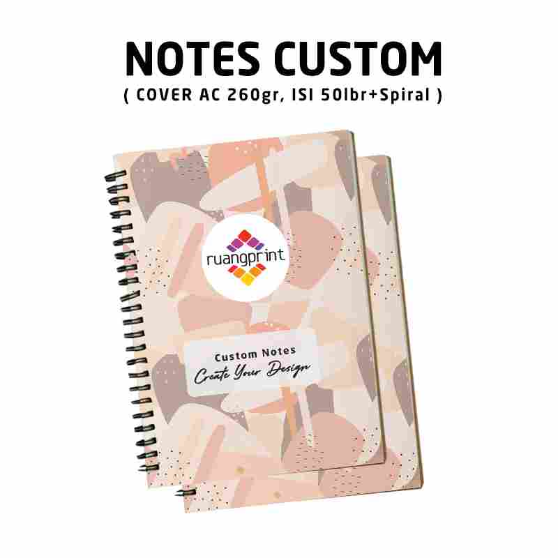 Notes A5 Custom Spiral (Isi 50lbr)
