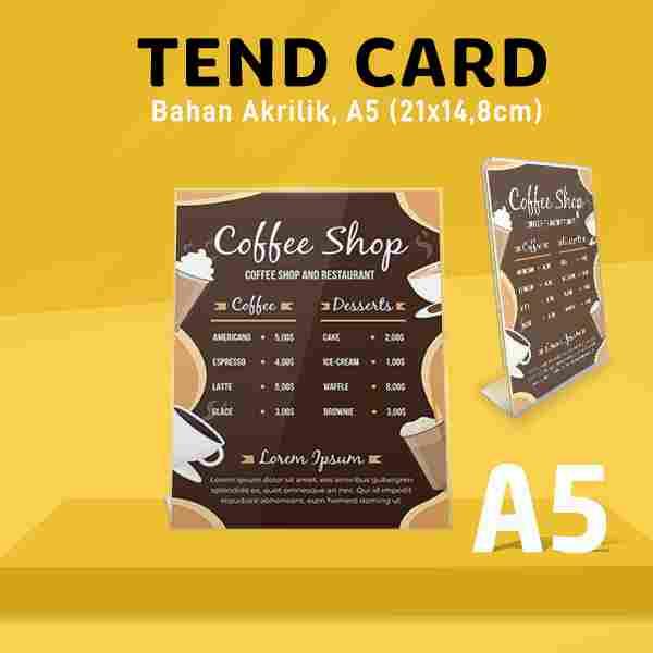 Tend Card Akrilik A5 (Bentuk L)