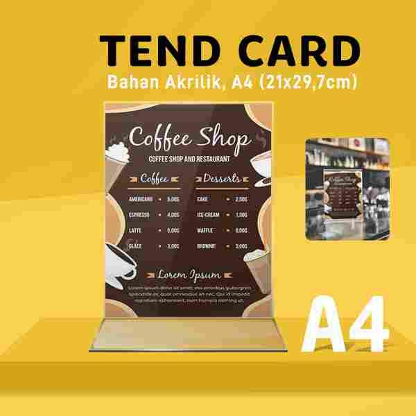 Tend Card Akrilik A4 (Bentuk T)