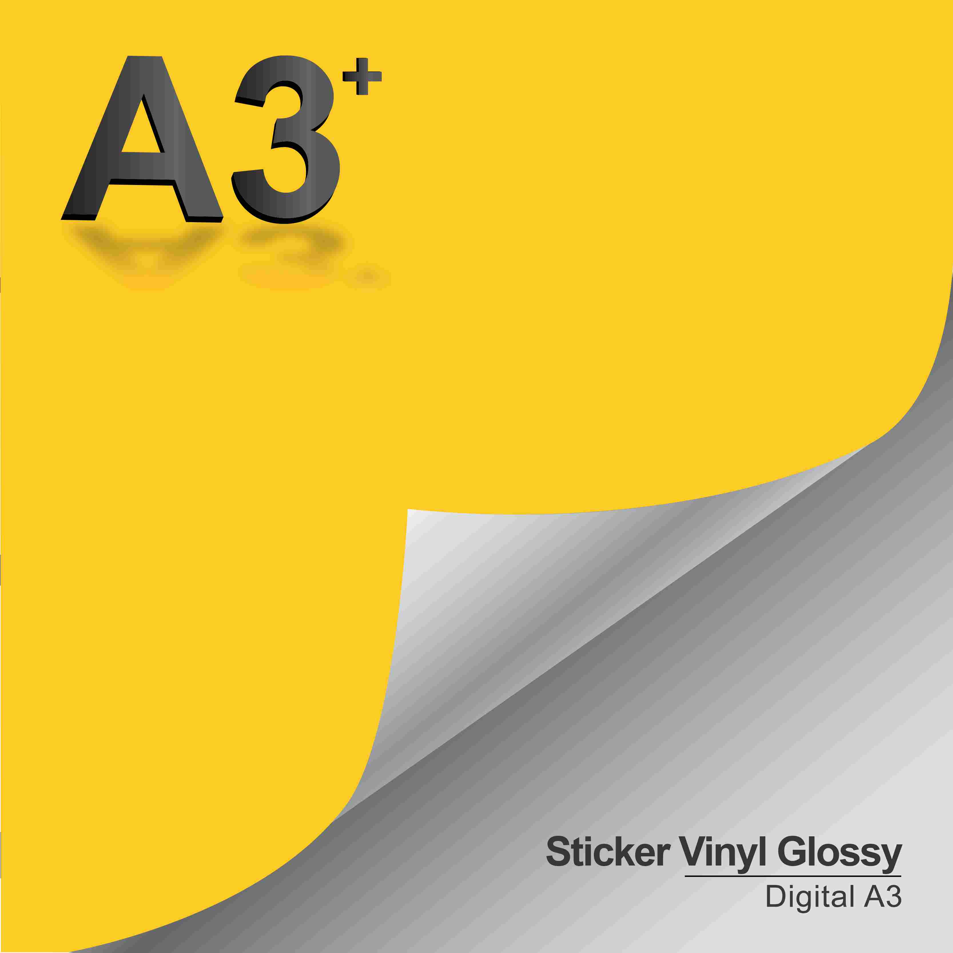 Print & Cut Sticker Vinyl Glossy A3