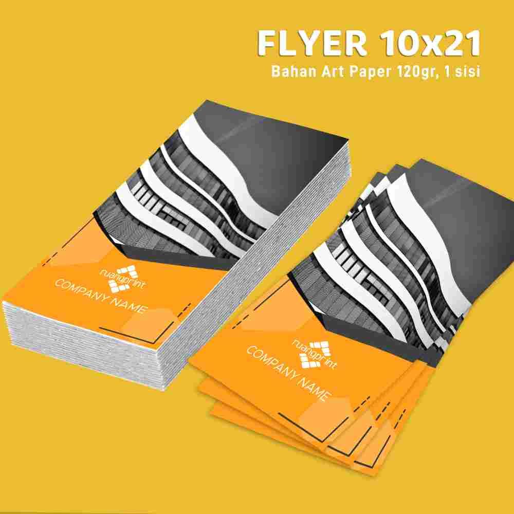 Flyer 10x21cm 1 Sisi, 1 Rim (Art Paper 120gr)