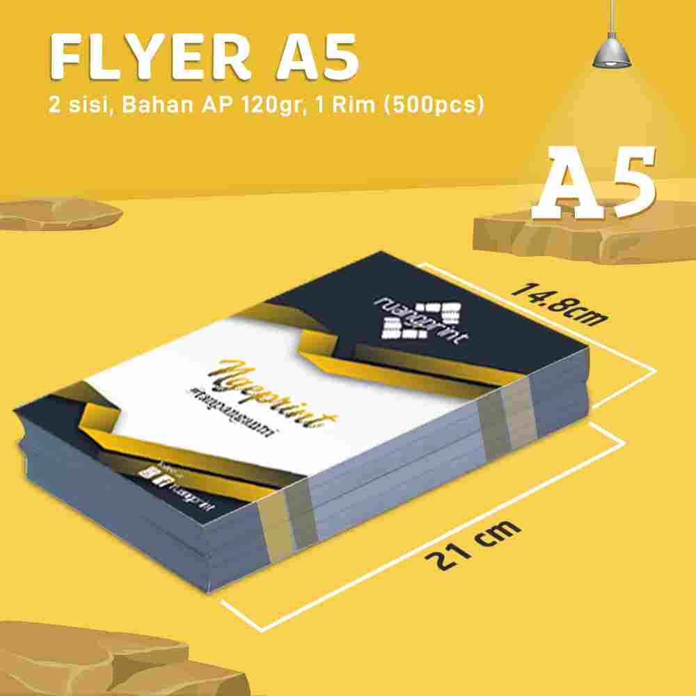 Flyer A5 2 Sisi, 1 Rim (Art Paper 120gr)