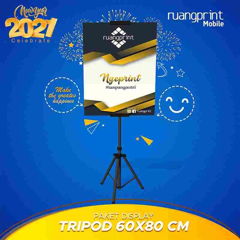 Tripod + Poster 60 x 80 cm (KD Board)