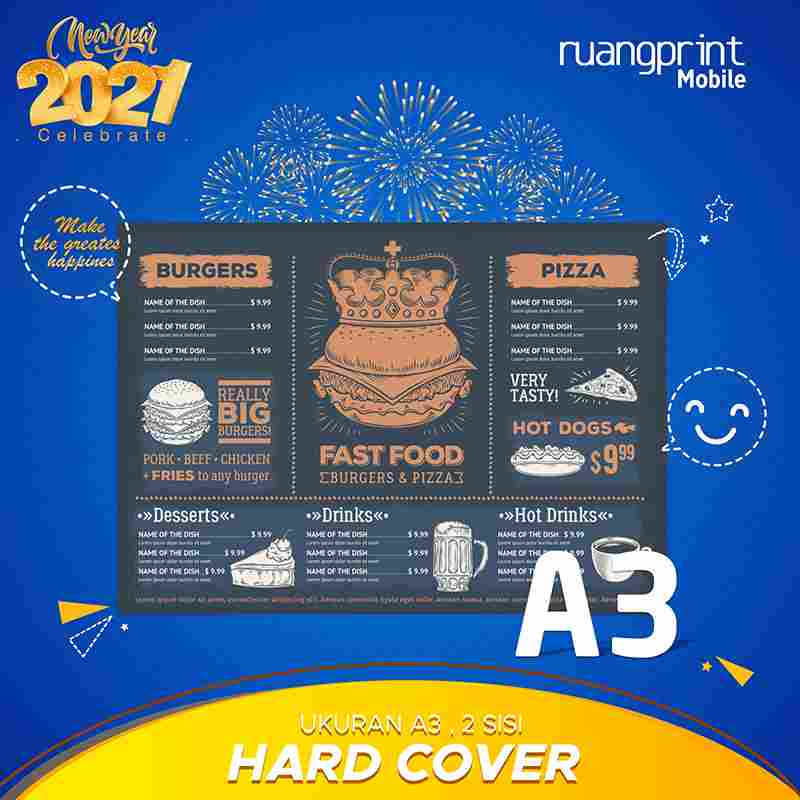 Paket Hard Cover A3 (2 Side)