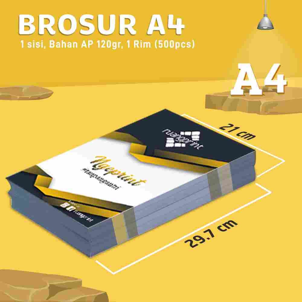 Flyer A4 1 Sisi, 1 Rim (Art Paper 120gr)