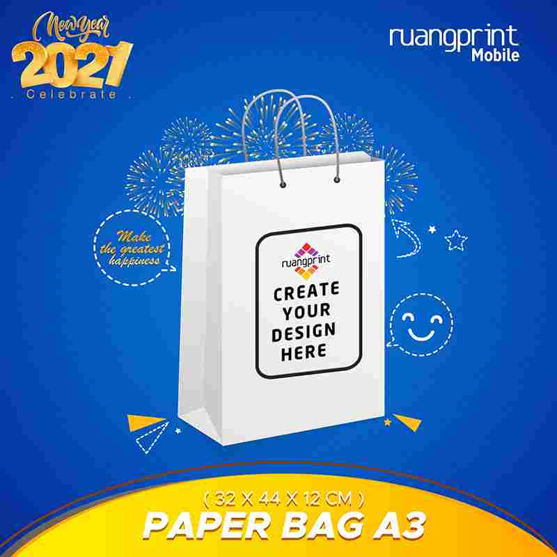 Paper Bag Custom A3 (32 x 44 x 12 cm)