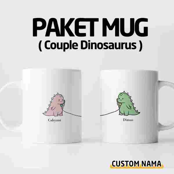PAKET Mug Couple Dinosaurus