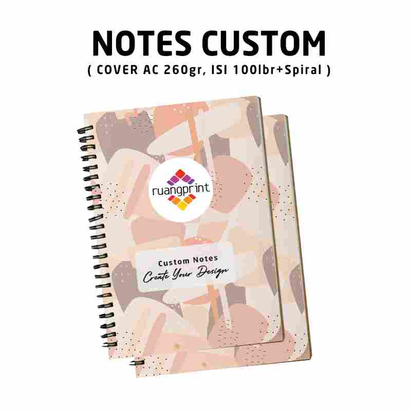 Notes A5 Custom Spiral (Isi 100lbr)