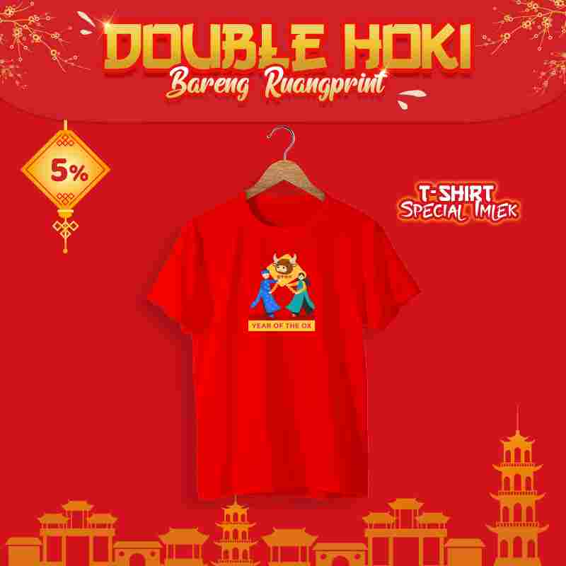 T-Shirt Chinese New Year #12 (S, M, L) 1 Side