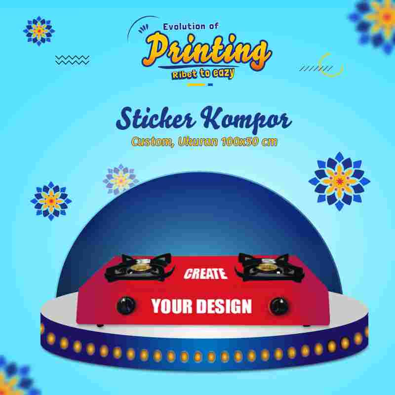 Sticker Kompor Custom