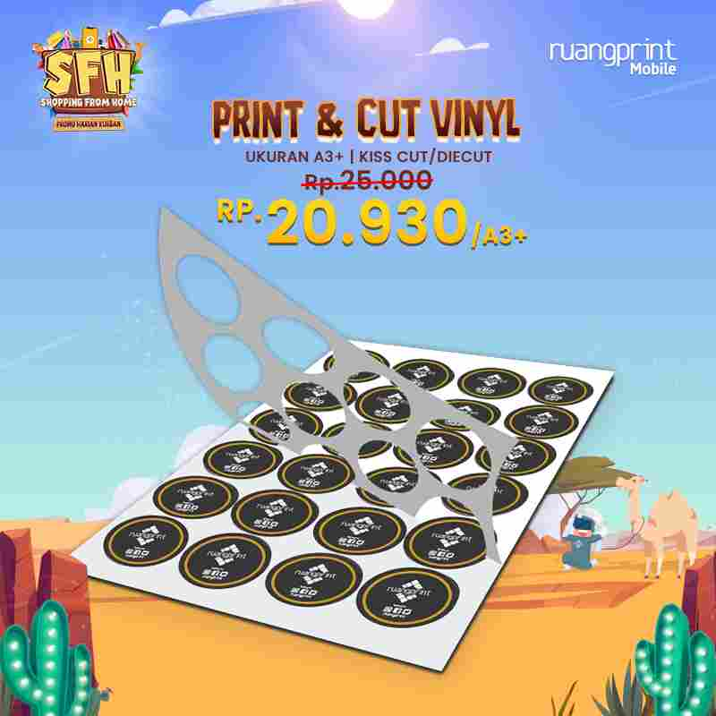 Print & Cut Sticker Vinyl Doff A3