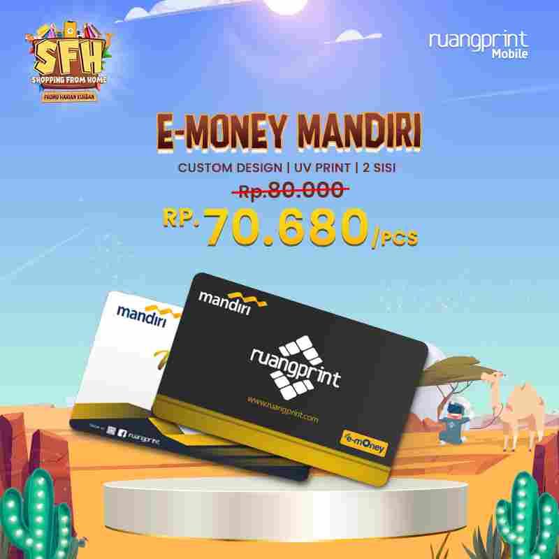 E Money Mandiri Custom (2 Sisi)