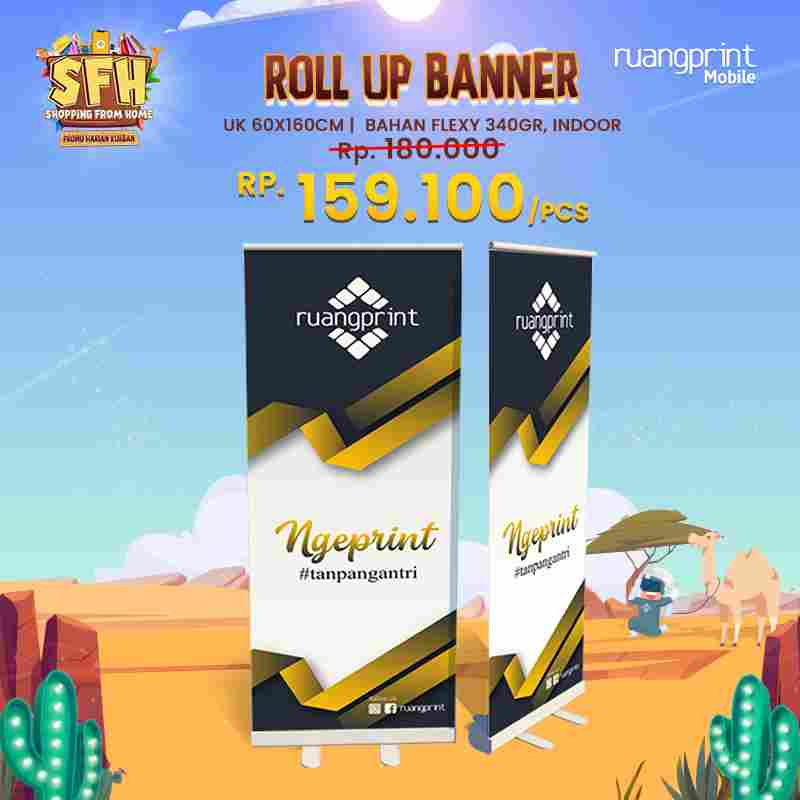 Roll Up Banner 60 x 160 cm (Flexy 340gr)  - Indoor