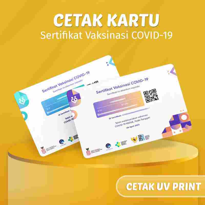 Jasa Cetak Kartu Vaksinasi  COVID-19 ( UV Print )