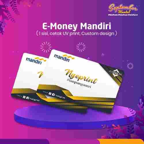 E Money Mandiri Custom (1 Sisi)