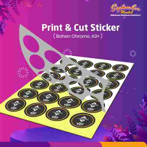 Paket Print & Cut Sticker Chromo