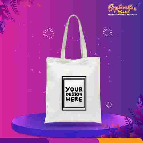Custom Tote Bag Premium 1 Warna 2 Sisi (30 x 40 cm)