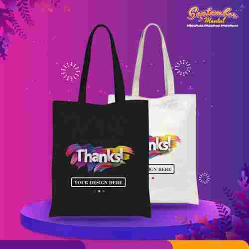 Custom Tote Bag Premium Full Color 1 Sisi (30 x 40 cm)